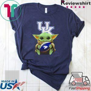 Baby Yoda hug Kentucky Wildcats Star Wars Tee Shirt