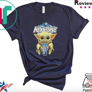 Baby Yoda hug Keystone Light Star Wars Mandalorian Tee Shirt