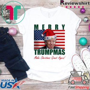 Donald Trump Merry Christmas make Christmas Great Again Flag Tee Shirts