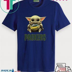 Official Baby Yoda Hug Green Bay Packers Tee Shirt