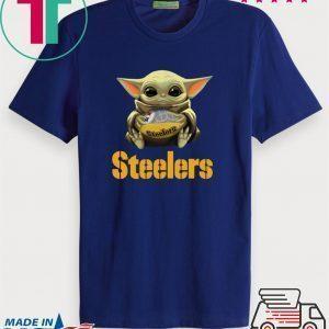 Official Baby Yoda Hug Pittsburgh Steelers Tee Shirts