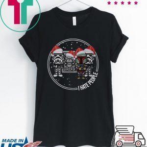 The Mandalorian Boba Fett I hate people christmas Tee Shirt
