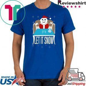 Walmart Cocaine Santa Let It Snow Womens T-Shirt