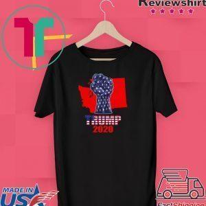 Washington For President Donald Trump 2020 Election Us Flag Tee Shirt