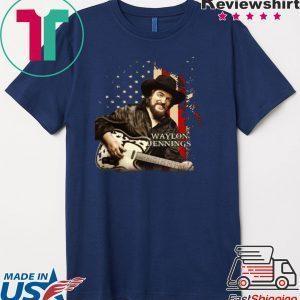 Waylon Jennings america Tee Shirt