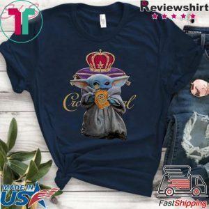 Yoda Baby hugs Crown Royal whisky wine Tee Shirts