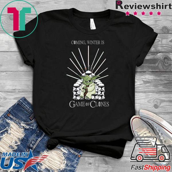 Yoda Coming, Winter Is Game Of Clones Tee Shirt