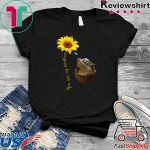 You Are My Sunshine Baby Yoda Tee Shirts