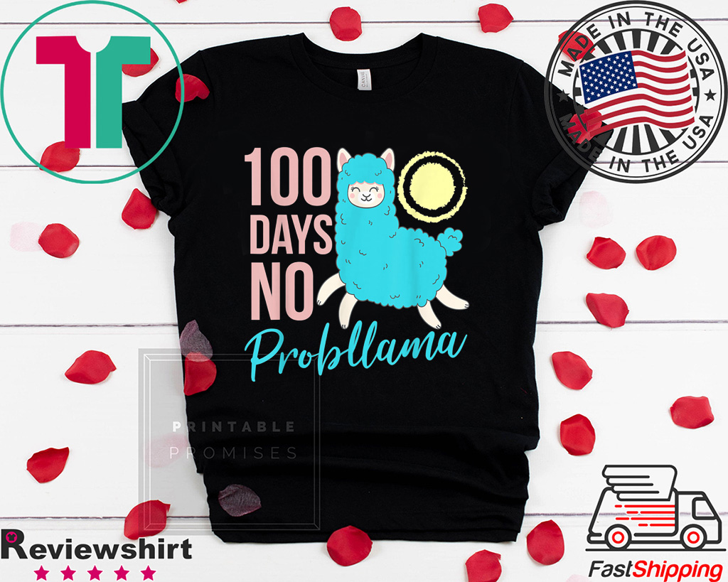 100 Days Of School Llama Tee Shirts