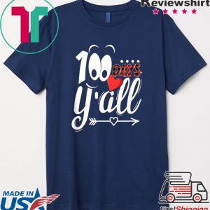 100 Days Y'all Happy 100th Day Of School Red Buffalo Plaid Tee Shirts