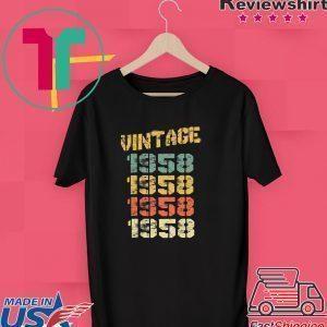 1958 Vintage 62nd Birthday Tee Shirts