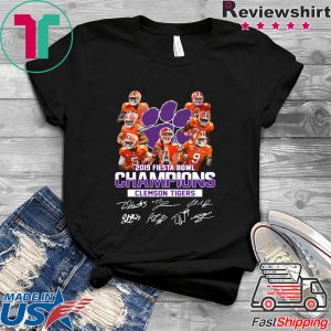 2019 Fiesta Bowl Champions Clemson Tigers Signature Tee Shirts