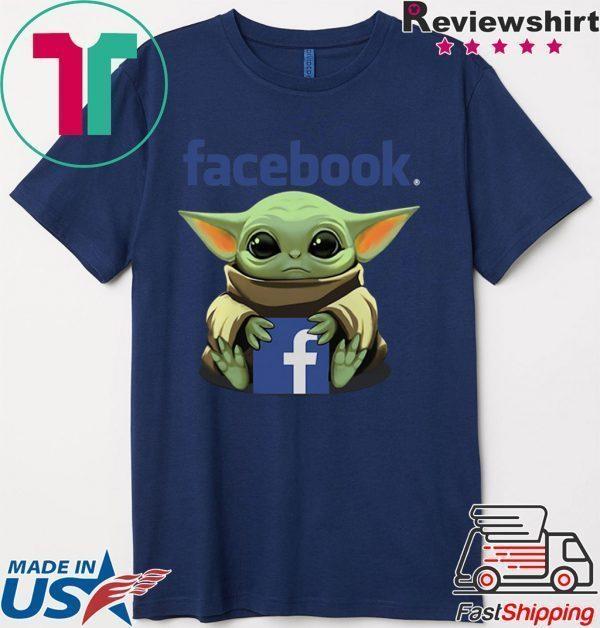 Baby Yoda Hug Facebook Tee Shirts