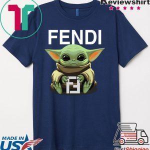 Baby Yoda Hug Fendi Tee Shirts