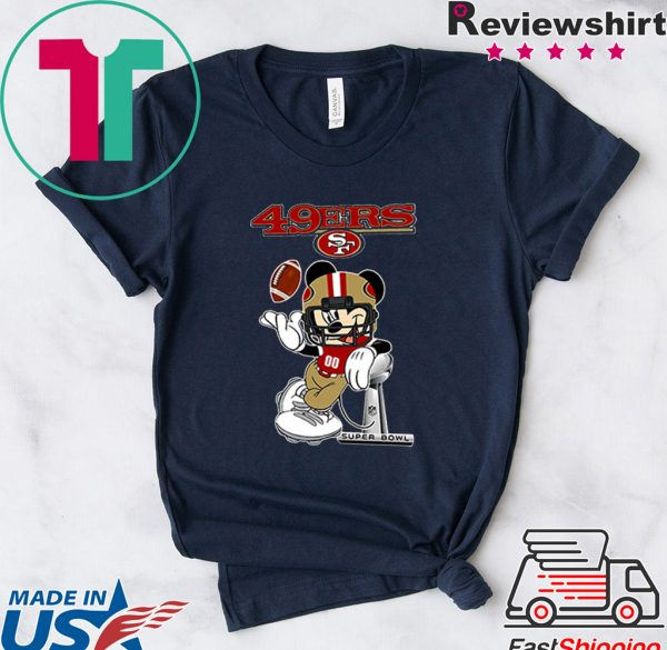 Dalatshirtstore Disney Mickey mouse San Francisco 49ers Super Bowl Tee Shirts