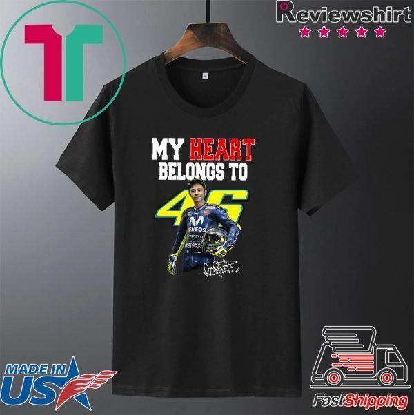 My heart belong to Valentino Rossi signature Tee Shirt