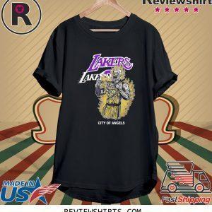Warren Lotas Laker City Of Angels Tee Shirt - Los Angeles Laker - Kobe B