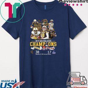 Wyoming Cowboys 2019 Arizona Bowl Champions Wyoming and Georgia State Tee Shirts