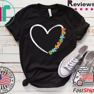 Autism Awareness Kindness Heart of Puzzle Autism Love Tee Shirts