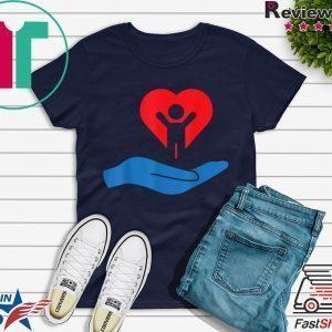 Autism Awarness My Hand Heart Gift Design Tee Shirts