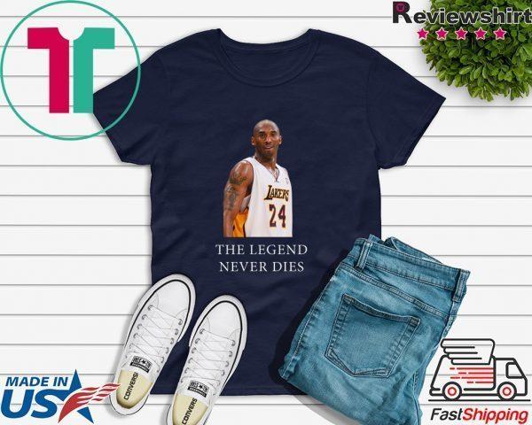 Black Mamba Kobe-Bryant The Legend Never Dies LA Basketball Tee Shirts