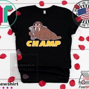 WALRUS CHAMPS - ANDY REID T-SHIRT Kansas City Chiefs Super Bowl LIV Champions Tee Shirts