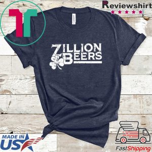 Zillion Beers Shamrock St Patrick's Day Tee Shirts