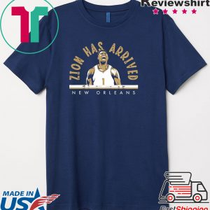 Zion Has Arrived New Orleans - NBPA Licensed Tee Shirts