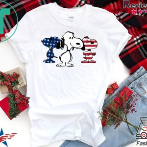 4th Of July Three Snoopy American Flag Tee Shirts