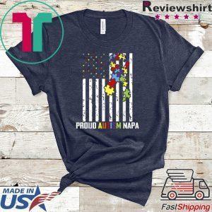 Autism Awareness Shirt American Flag Proud Autism Napa Tee Shirts