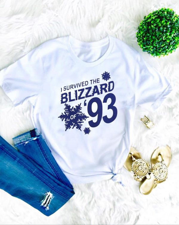 I Survived the Blizzard of 93 Tee Shirts