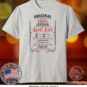 April Girls Birthday 2020 Year When Sh-T Got Real Quarantined Ladies T-Shirt - Quarantine 2020 Birthday Tee Shirts