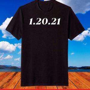 1.20.21 Shirt Palindrome Date President Biden Inauguration T-Shirt