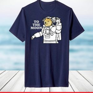 Official Dogecoin To The Moon Cool T-Shirt