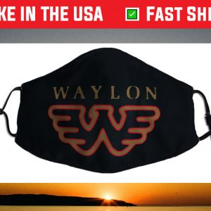 Waylon Jennings - Official Merchandise - Flying W Logo Face Mask