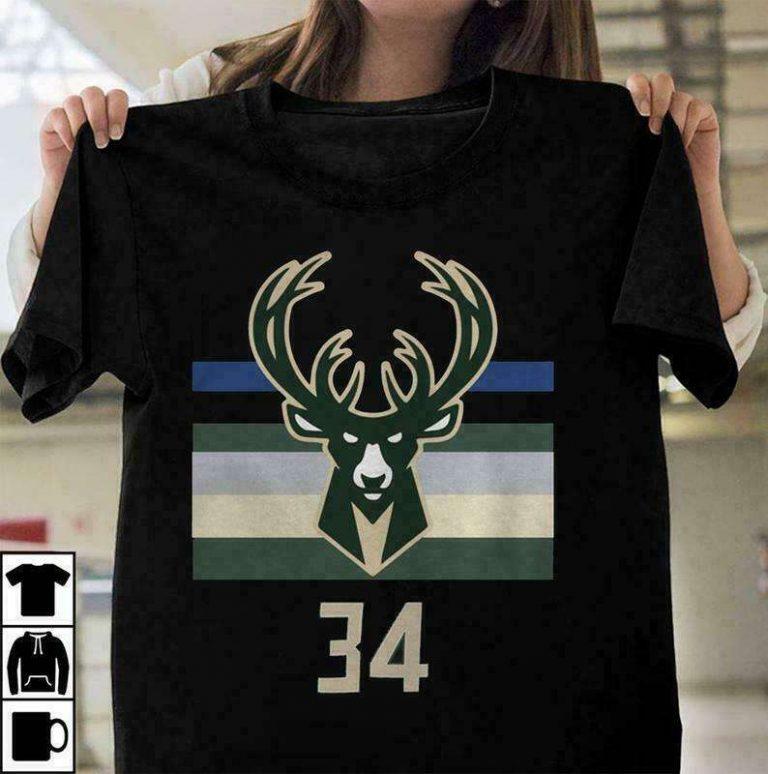 34 Giannis Antetokounmpo Milwaukee Bucks 2021 Shirt - Teeducks